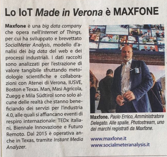 La IoT Made in Verona è Maxfone