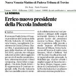 Articolo su Nuova Venezia - Mattino di Padova - Tribuna di Treviso