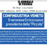 Articolo su Il Giornale di Vicenza