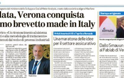 Big Data, Verona conquista il primo brevetto made in Italy (da L'Arena)