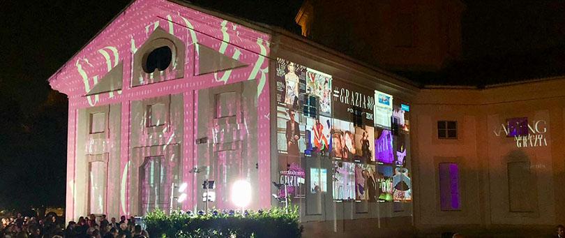 La festa per l'80° Anniversario di Grazia è stata incorniciata da Photostream, con il mosaico delle foto social postate in onore dell'iconico Magazine italiano