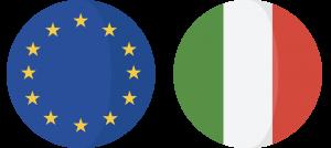 Bandiera Europea ed Italiana
